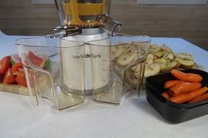 préparation des jus de fruit avec extracteur