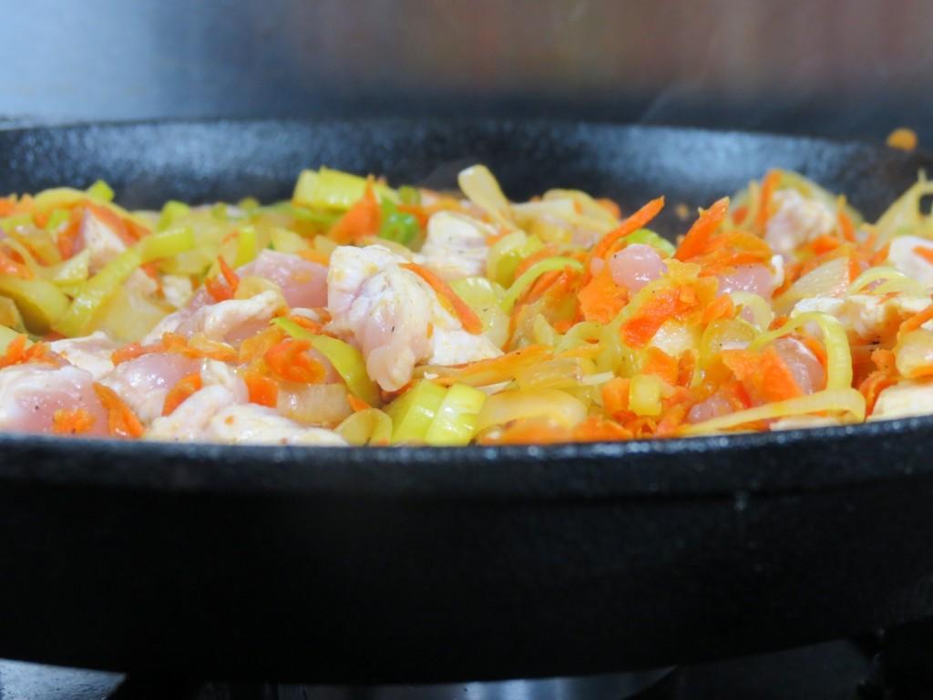 mélange de légumes et viande