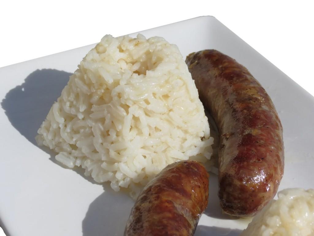 recette très simple riz et saucisse